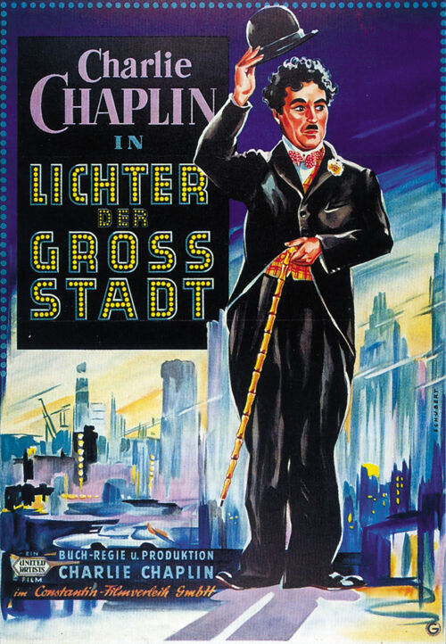 City Lights (1931) Charlie Chaplin movie poster print | eBay