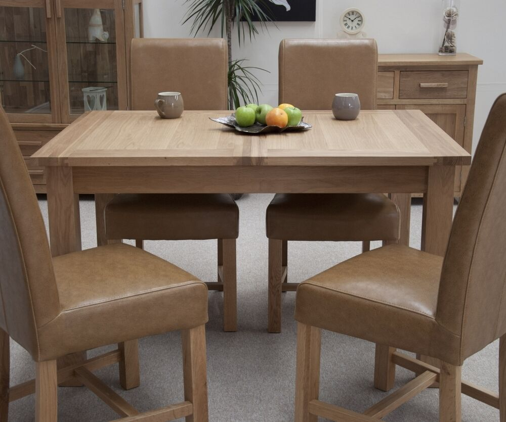 windsor solid contemporary oak furniture extending dining table ebay
