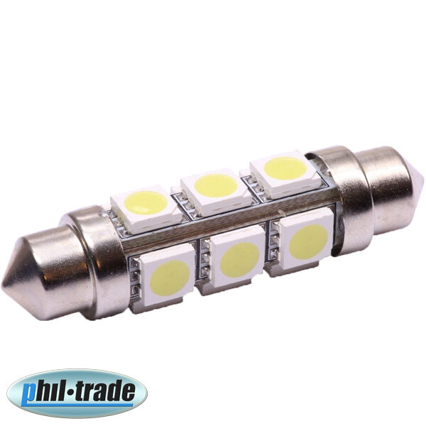 smd led soffitte lampe 360 c10w 42mm 12v xenon weiss hell. Black Bedroom Furniture Sets. Home Design Ideas