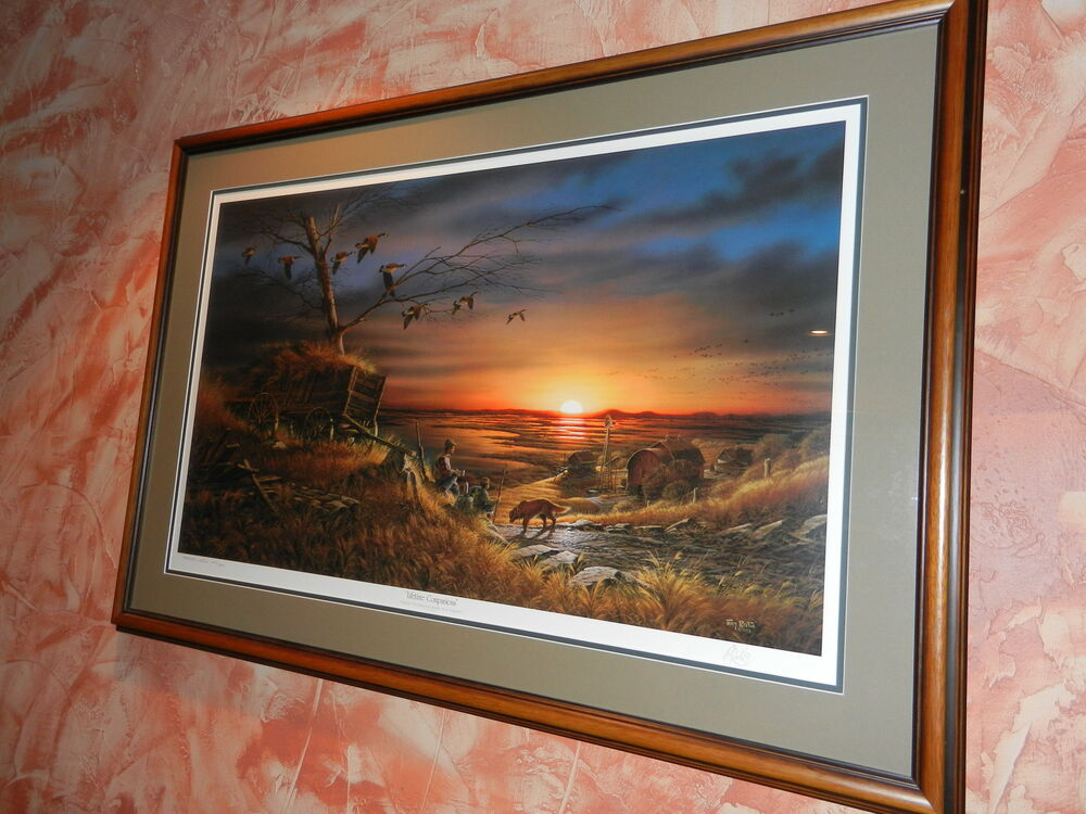 Terry Redlin Lifetime Companions Framed Signed Ebay