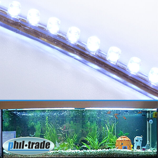 24cm 24 led leiste streifen weiss lichtleiste wasserdicht aquarium mondlicht ebay. Black Bedroom Furniture Sets. Home Design Ideas