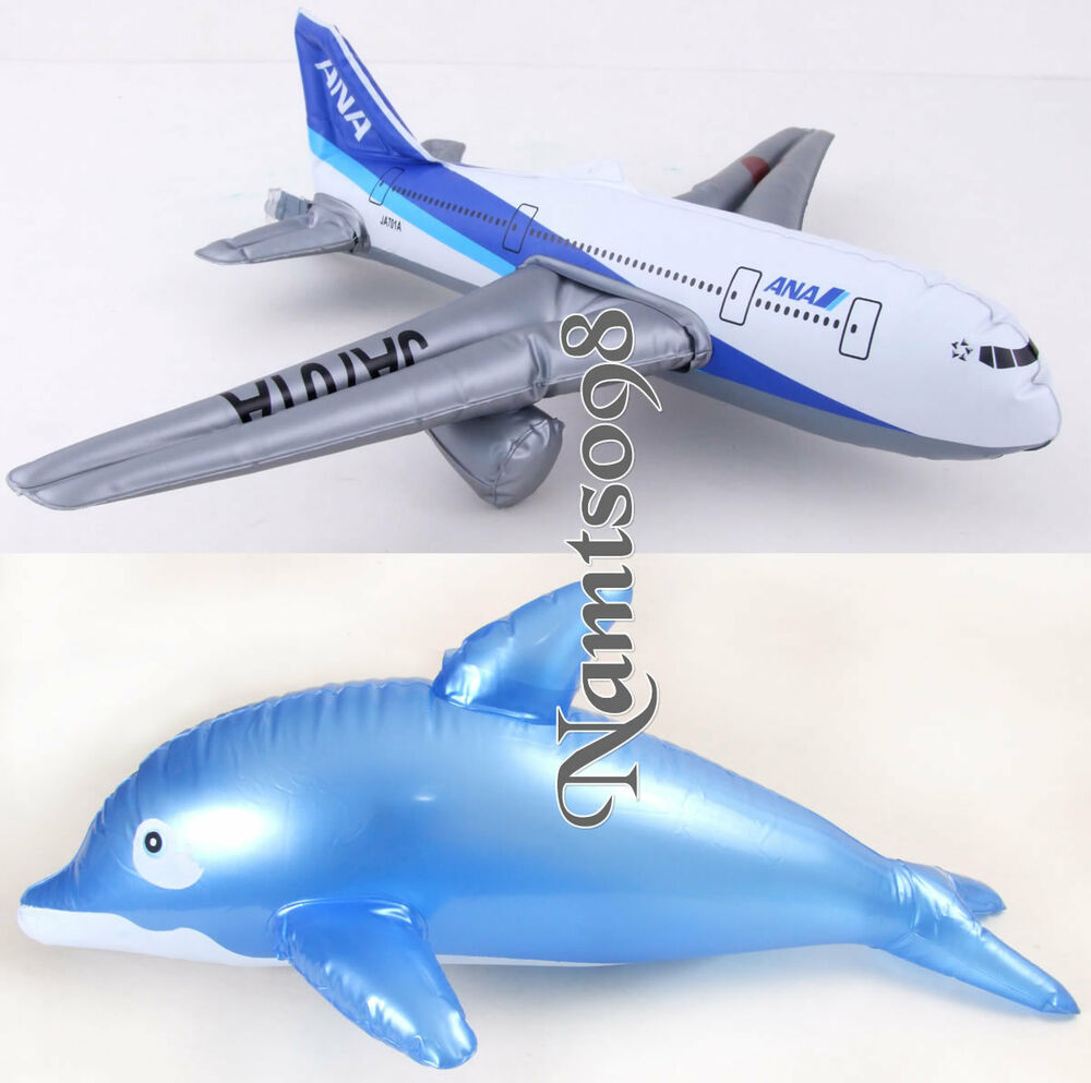 inflatable dolphin  airplaneswimming pool bath
