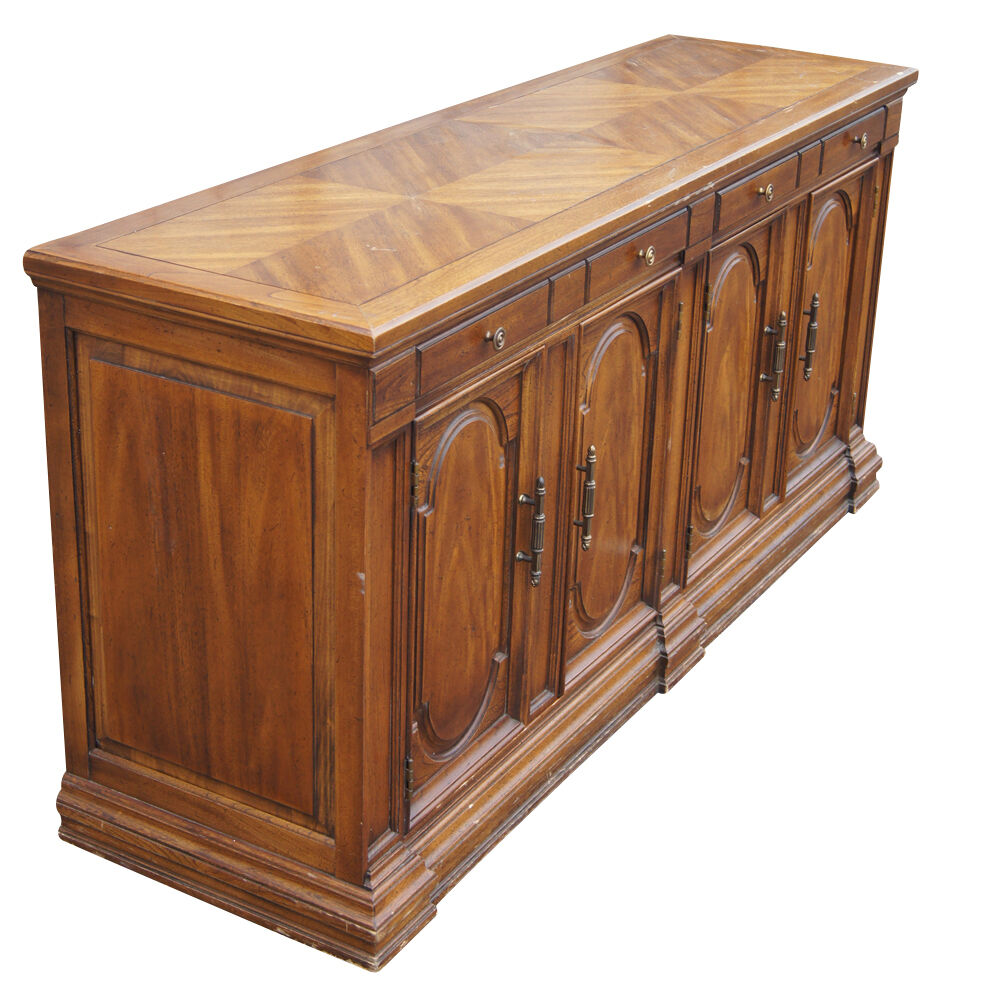 "64"" Traditional Style Hickory Credenza Buffet (MR11752)"