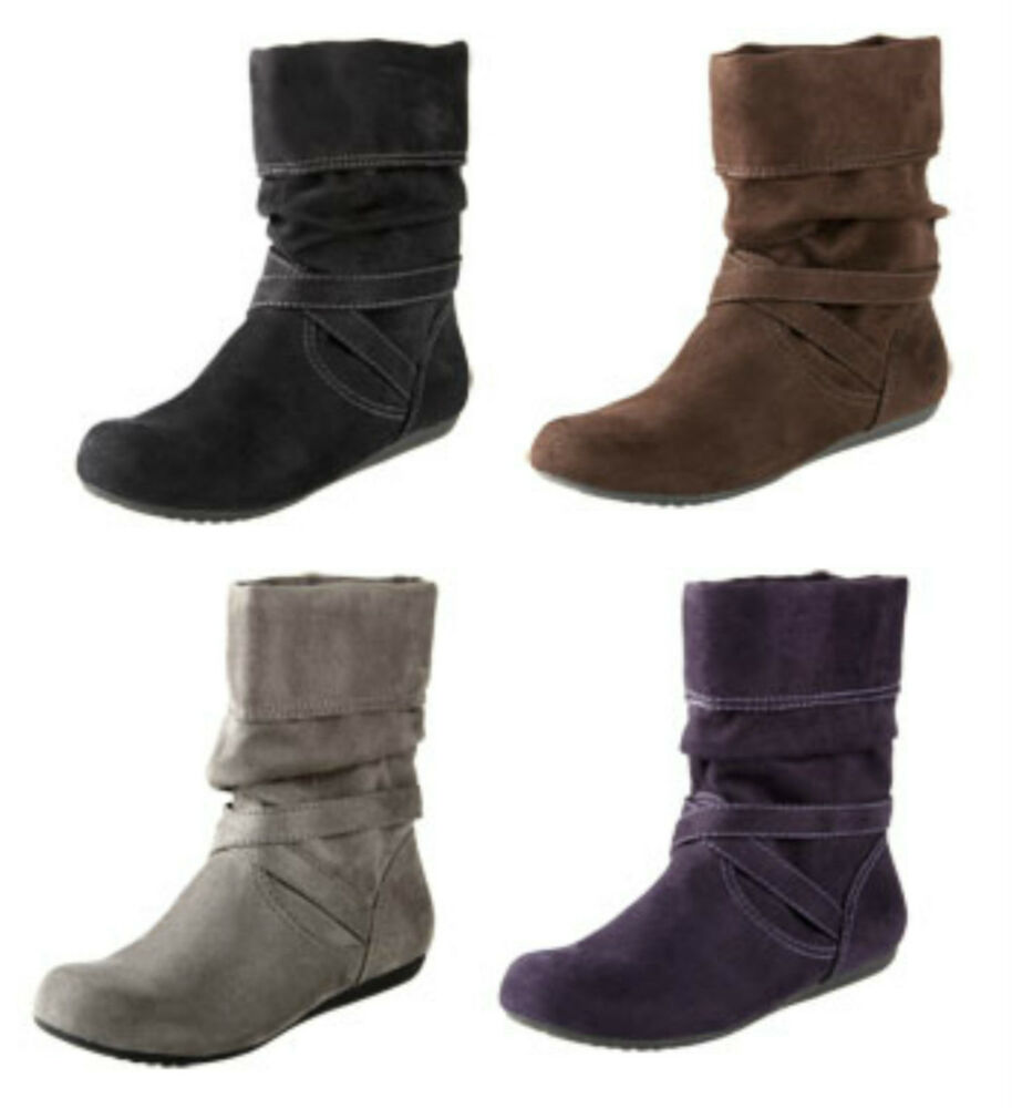 new lower east side black brown gray purple sueded boots
