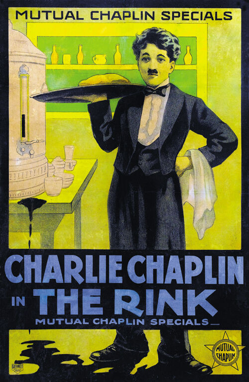 The Rink (1916) Charlie Chaplin movie poster 23.5x36 ...