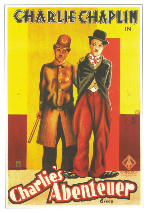 Easy Street (1917) Charlie Chaplin movie poster print 3 | eBay