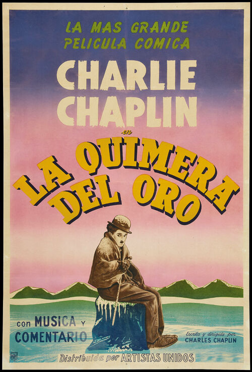 The Gold Rush (1925) Charlie Chaplin movie poster print 5 ...
