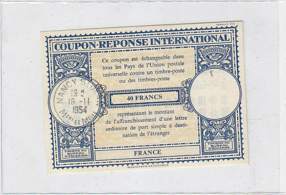 An international reply coupon (IRC) is a coupon that can be exchanged for one or more postage stamps representing the minimum postage for an unregistered priority airmail letter of up to twenty grams sent to another Universal Postal Union (UPU) member country. IRCs are accepted by all UPU member countries.