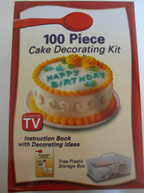 Cake Decorating Kit With Book : 100PC COOKIE MUFFIN CAKE CUPCAKE ICING DECORATING KIT TIPS ...