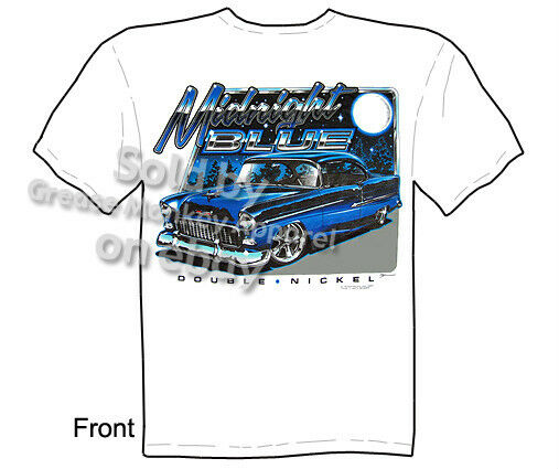 midnight 1955 chevy t shirt classic car shirts 55 bel air. Black Bedroom Furniture Sets. Home Design Ideas