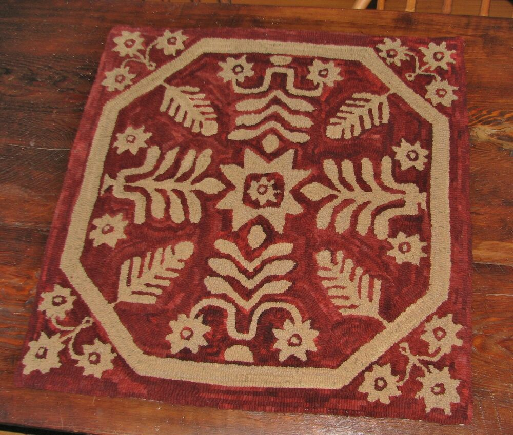 "PRIMITIVE RUG HOOKING KIT ON MONKS ~ ""ANTIQUE COVERLET"""