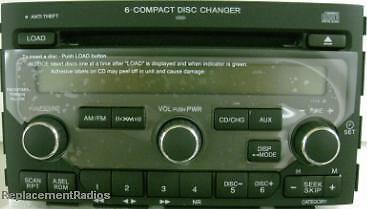Details About Honda Pilot 06 08 Cd6 Xm Ready 1tv5 Radio Oem Factory Original Cd 39100 Stw A200
