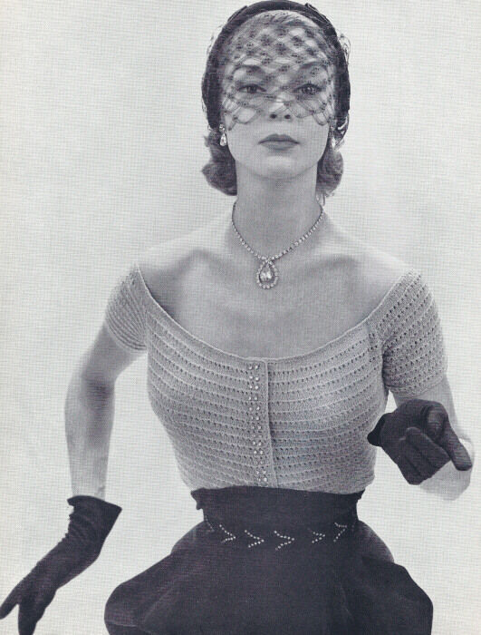 Vintage Knitting PATTERN to make Scoop Neck Knitted ...