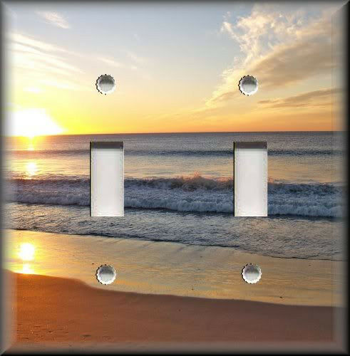Light Switch Plate Cover Beach Sunset Beach House Home