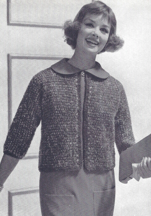 Vintage Knitting PATTERN Knitted Mohair Shorty Jacket Sweater Suit eBay