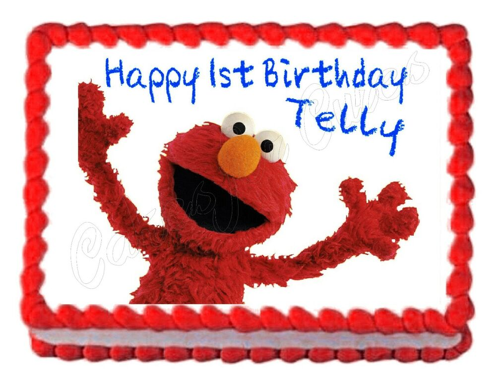 Elmo Edible Cake Images : Sesame Street ELMO edible party cake topper decoration ...
