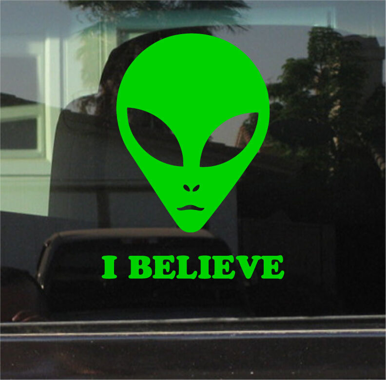 Iphone 6 sticker case - Alien Ufo I Believe Vinyl Decal Sticker Ebay