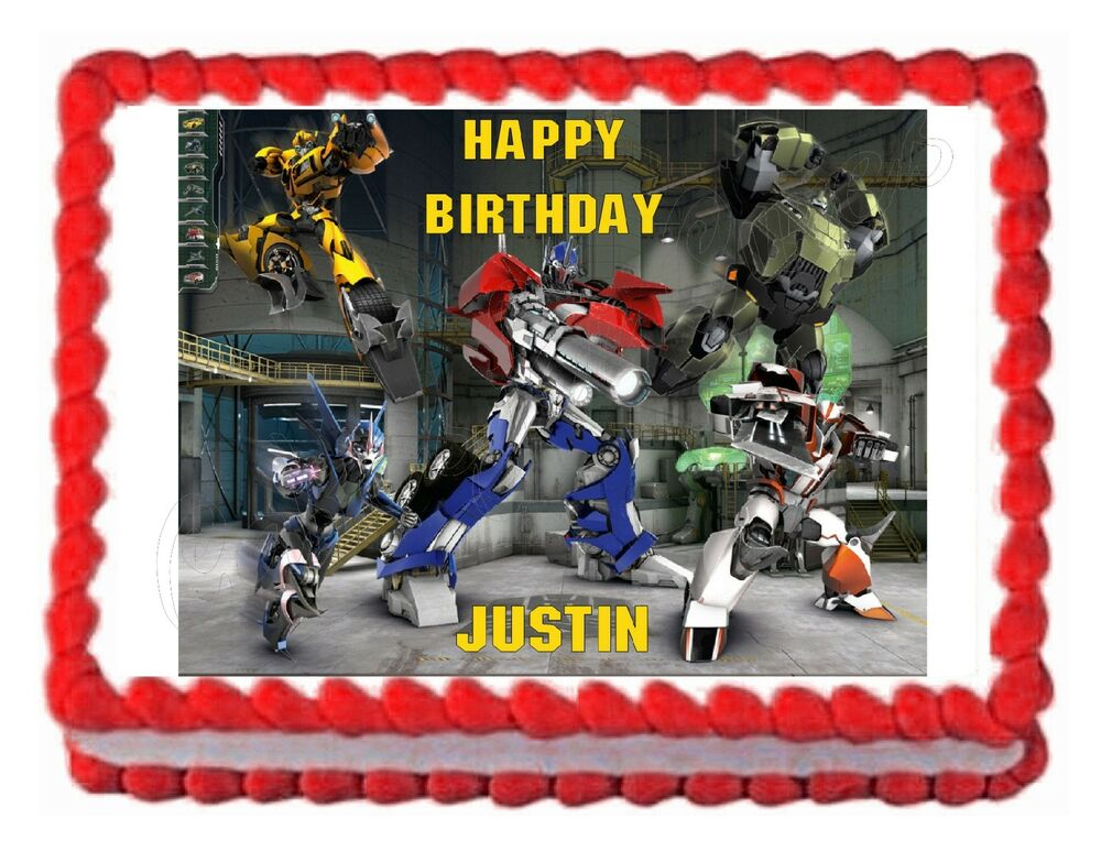 Transformers Cake Decorations Uk : TRANSFORMERS PRIME edible party cake topper cake image ...