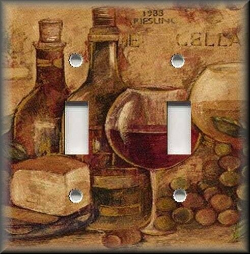 Light Switch Plate Cover Kitchen Decor Vintage Wine