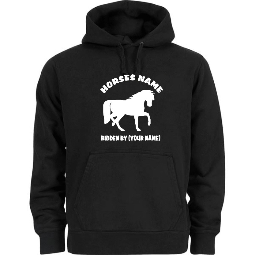 Horse Riding Hoodie Personalised With Your Horse Name