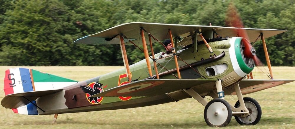 S Xiii French Biplane Fighter Spad S8 Airplane Kiln Wood