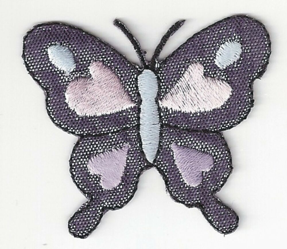 2u0026quot; Shinny Glitter Purple Butterfly Embroidery Applique Patch | EBay