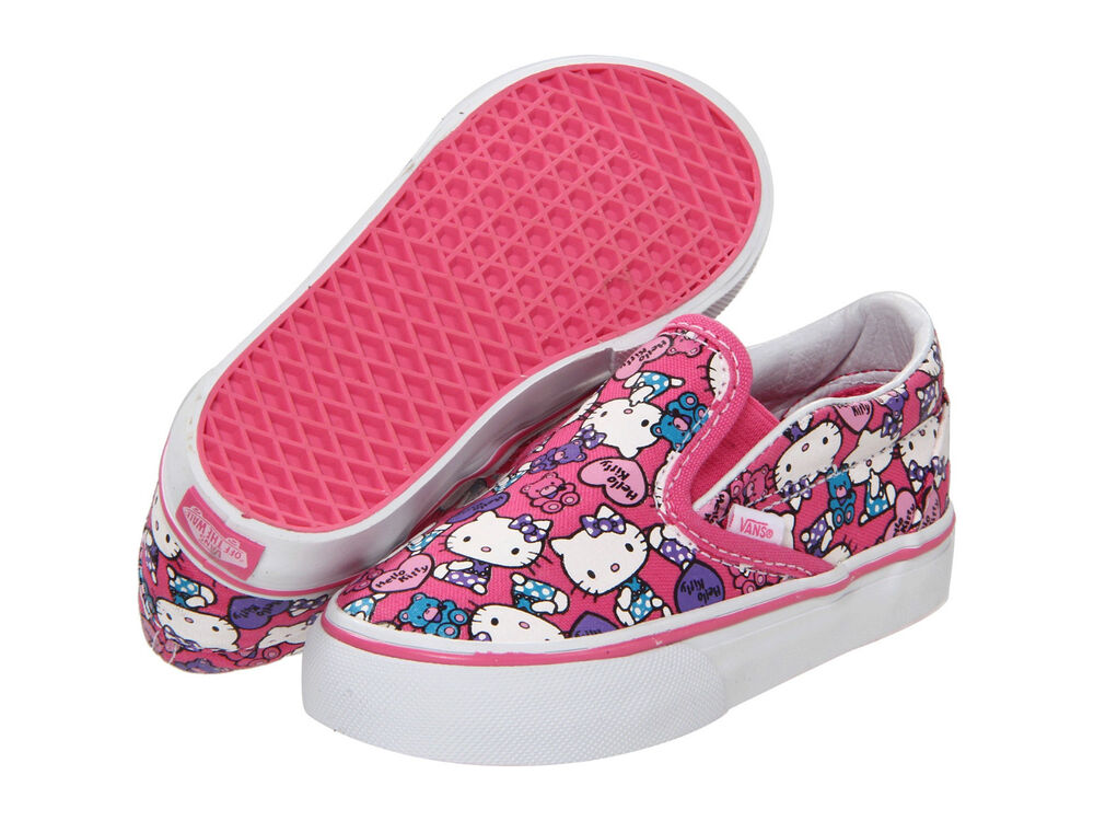 Vans Classic Slipon Hello Kitty Pink White Infants Toddler