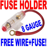 IN LINE Fuse Holder with 8 Gauge wire + 40A AGU Fuse Fast Free USA Shipping