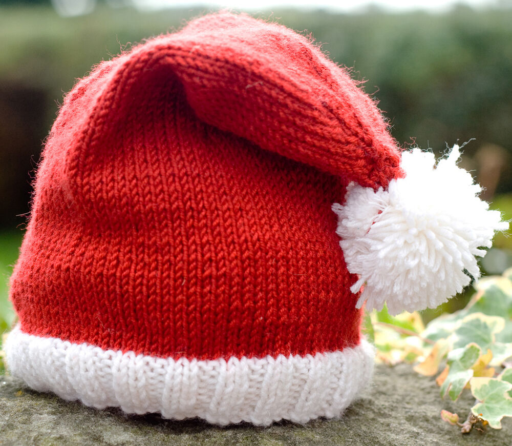 Knit Santa Hat Pattern : KNITTING PATTERN/DIY INSTRUCTIONS - CUTE BABY SANTA HAT - DK YARN eBay