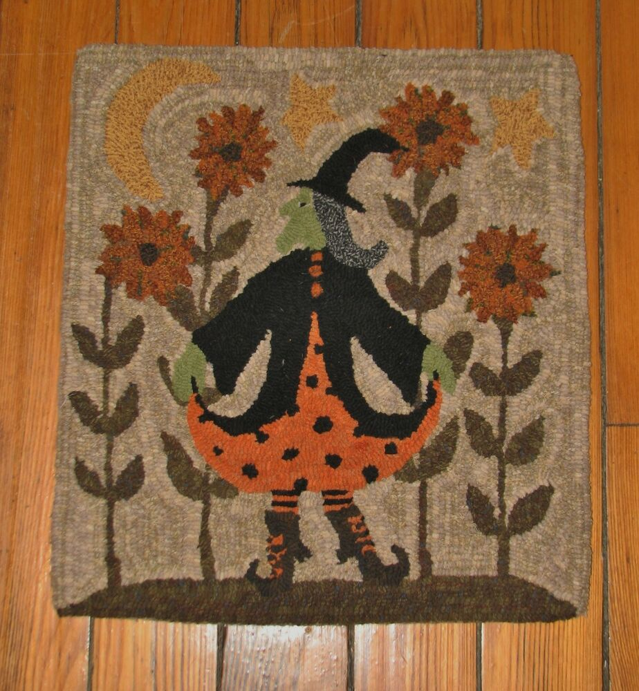 Primitive Rug Hooking Kit On Monks Quot The Dancing Witch