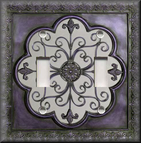 Light Switch Plate Cover Faux Finish Fleur De Lis