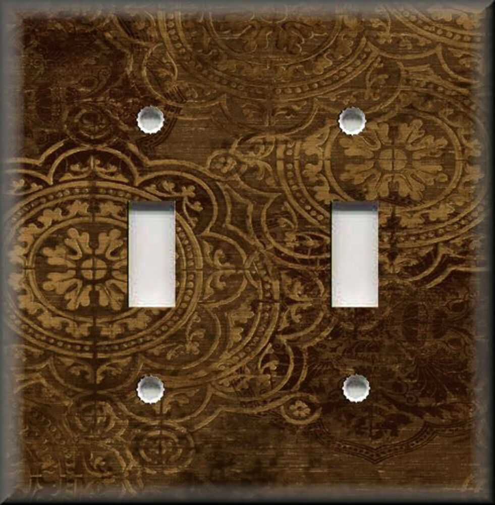 Light switch plate cover old world tuscan medallions for Where to buy home decor