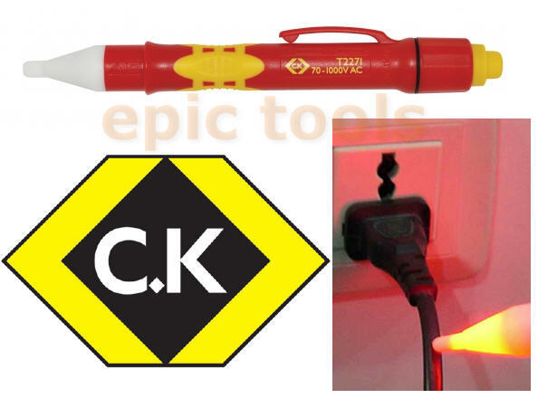 ck tools non contact 70 1000v ac live wire voltage cable detector tester t2271 ebay. Black Bedroom Furniture Sets. Home Design Ideas