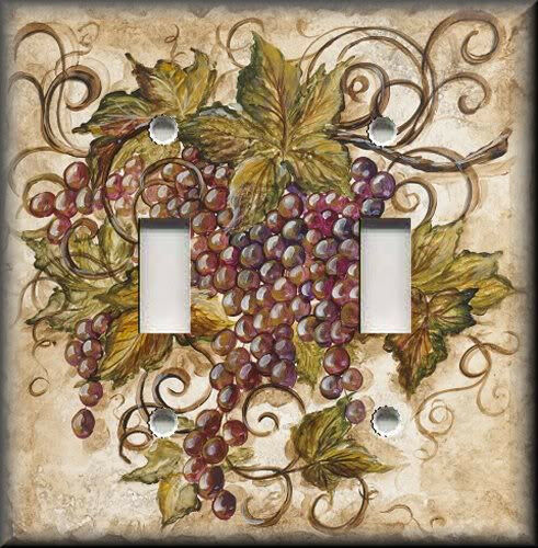 Light Switch Plate Cover Tuscan Kitchen Decor Red