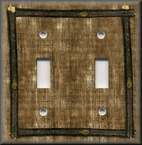 Light Switch Plate Cover Framed Design Image Of Rustic