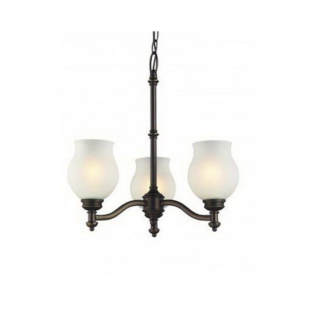 Oil rubbed bronze 3 light chandelier ebay - Lights and chandeliers ...
