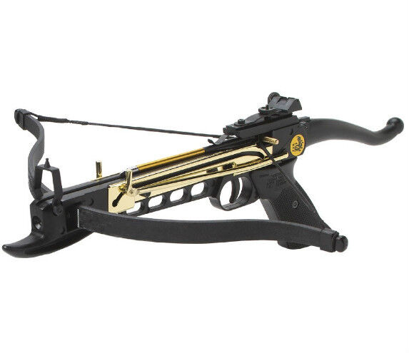 New 80 lb archery hunting gun self cocking pistol crossbow for Crossbow fishing bolts