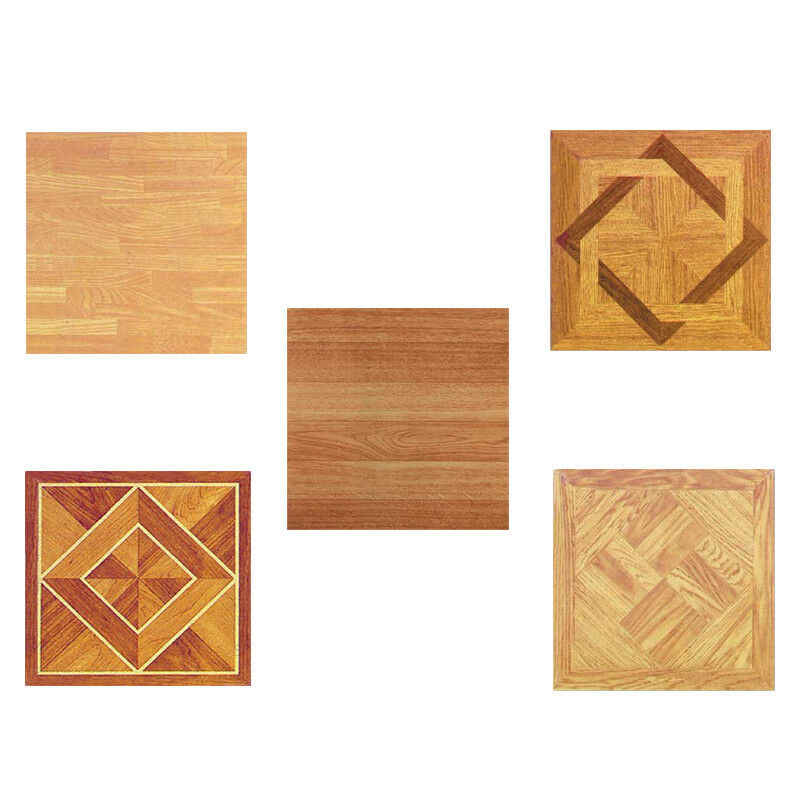 Wood Vinyl Tiles Pieces Self Adhesive Indoor Flooring
