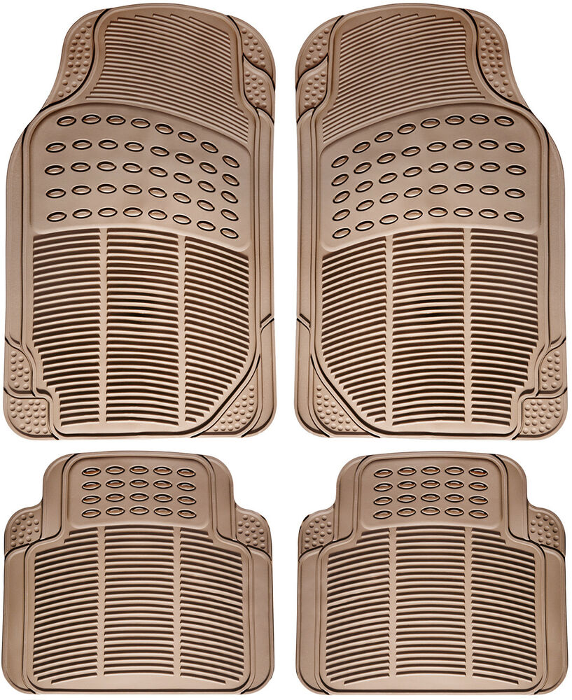 Toyota Camry All Weather Floor Mats Car Floor Mats for All Weather Rubber 4pc Set Semi Custom Fit Heavy ...