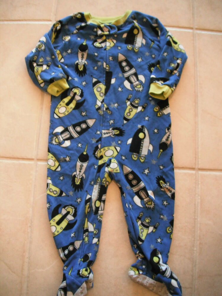 Boys Carters Footed Sleeper Pajamas Space Glow In The Dark
