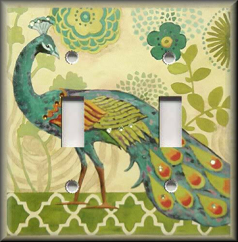 Light Switch Plate Cover Stunning Peacock Bird Peacock