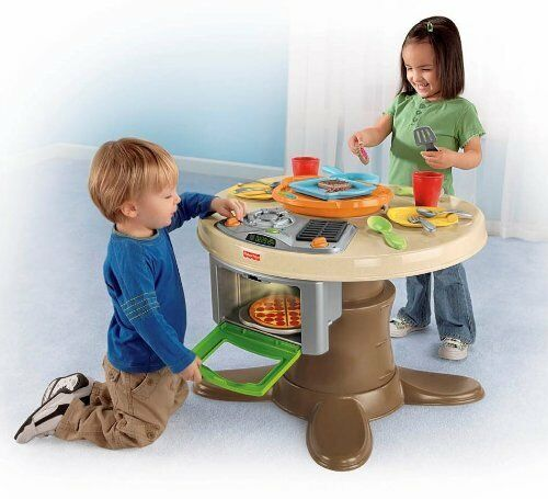Fisher Price Servin' Surprsies Cooking Kitchen Table Play