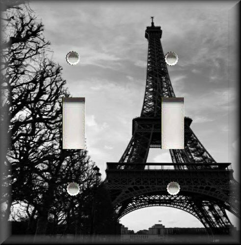 light switch plate cover black and white eiffel tower paris home decor france ebay. Black Bedroom Furniture Sets. Home Design Ideas