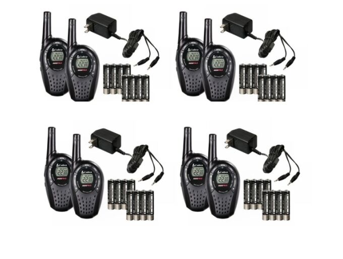 8 cobra cxt235 microtalk 20 mile frs  gmrs 22 channel