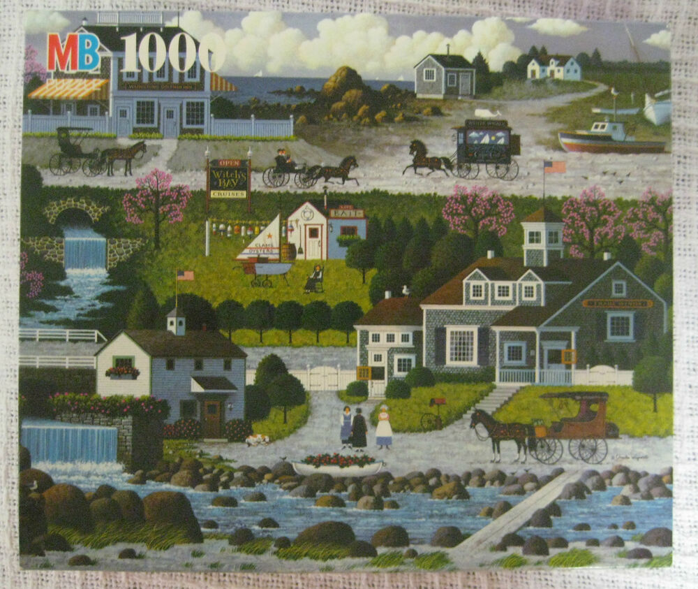 Charles Wysocki Witch S Bay Cruises Cape Cod Jigsaw Puzzle