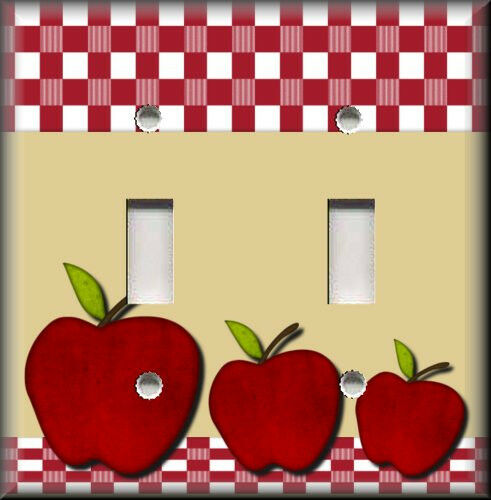 Light switch plate cover red apples kitchen decor for Apple home decoration