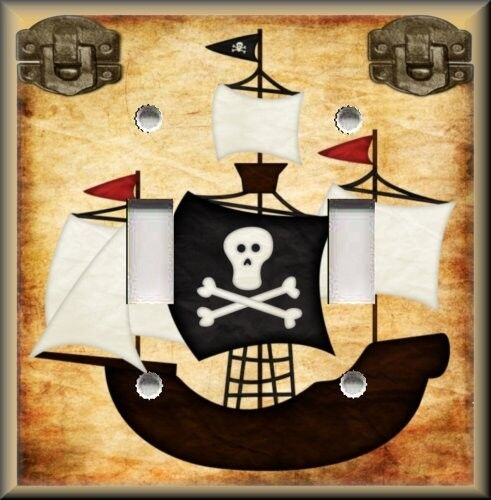 Light Switch Plate Cover Pirate Ship Boys Room Decor