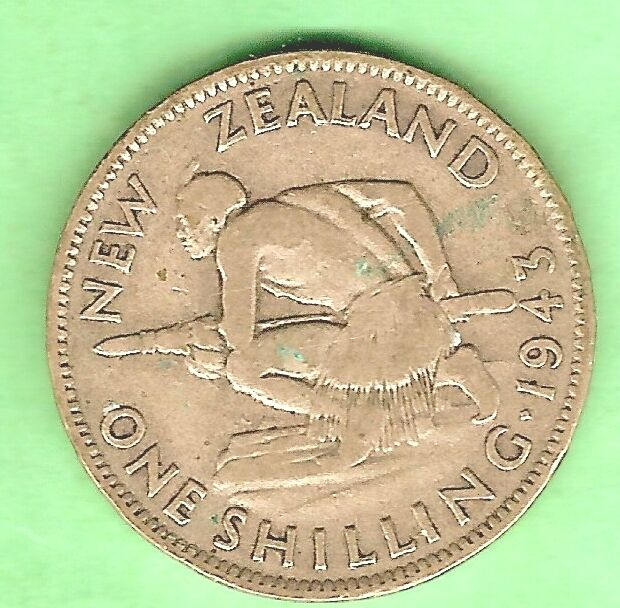 new zealand silver shilling 1943 ebay. Black Bedroom Furniture Sets. Home Design Ideas