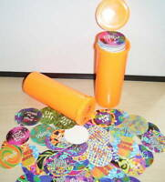 EUROCAPS POGS Game 100 Psychedelic Theme with Pogtainer