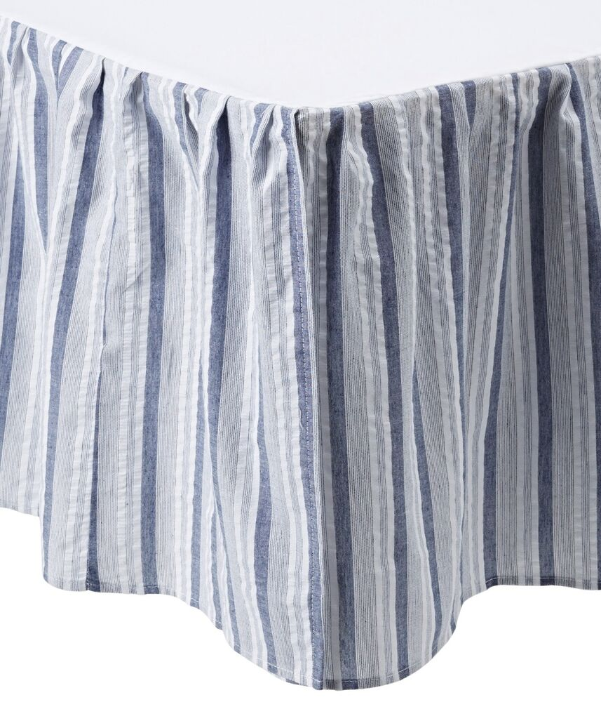 Blue White Striped Twin Full Queen Or King Bedskirt